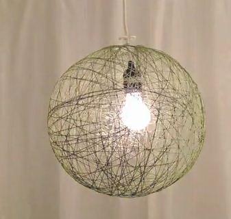 como hacer una lampara colgante cositasconmesh