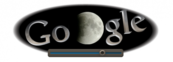 Google Doodle shows the total lunar eclipse in real time