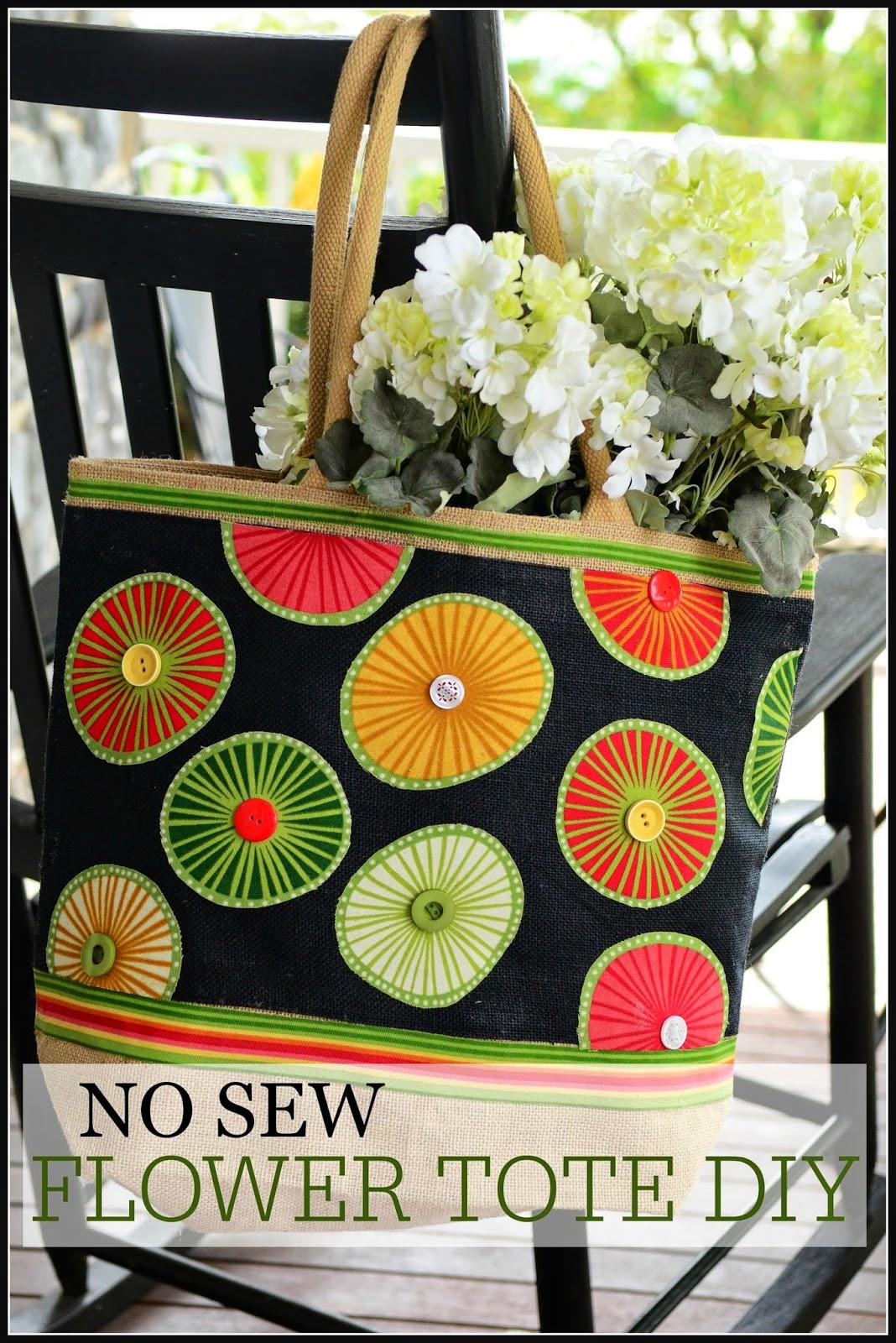 no sew flower tote diy