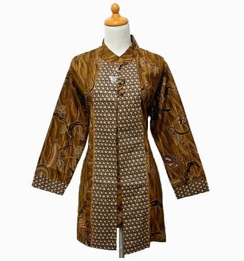 Baju Muslim Batik Kerja Modern 2015