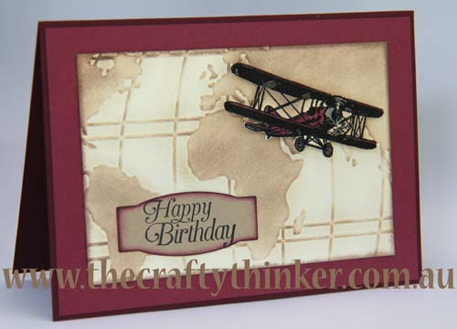 SU, saleabration, Traveler, masculine card, hand made birthday card, plane