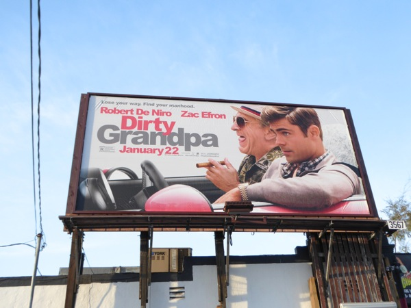Dirty Grandpa movie billboard