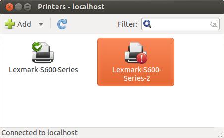 Lexmark S600 cups-insecure-filter ubuntu