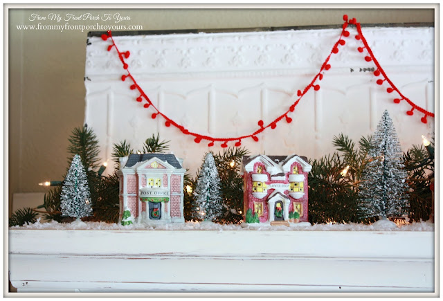 Small Christmas Village Pieces-Christmas Village Vignettes- From My Front Porch To Yours