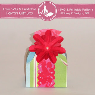 SVG & Printable Favors Gift Box