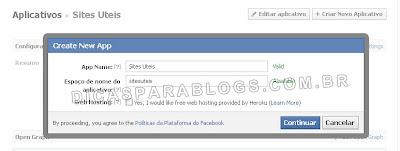 aplicativo de comentarios do facebook no blogger
