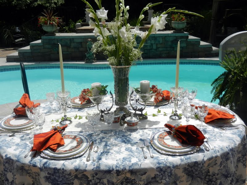 A Perfect Setting A Poolside Setting