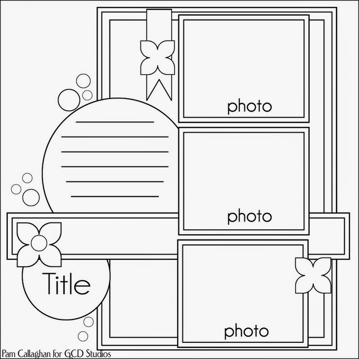 Les pages scrapbooking de monica layouts sketches - Lay outs idee ...
