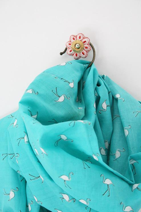 Flamingo infinity scarf