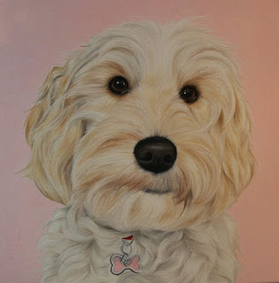 Cockapoo Pet Portrait Oil on Canvas