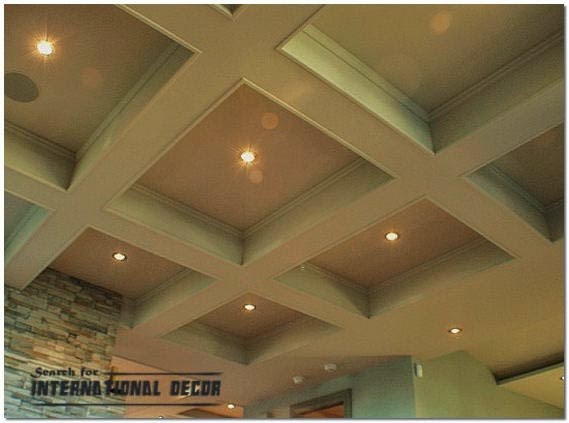 Coffered ceiling features and advantages in the interior for Coffered ceiling styles