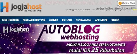Auto Blog Jogja Host