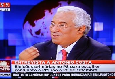 Ana Lourenço entrevista a António Costa