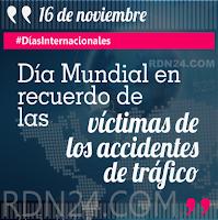 Día Mundial en recuerdo de las víctimas de los accidentes de tráfico #DíasInternacionales
