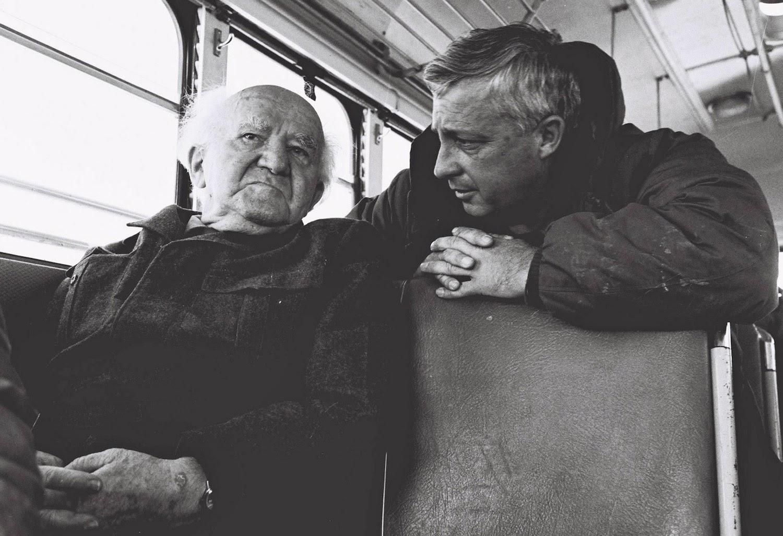 Airel Sharon y David Ben Gurion en 1971