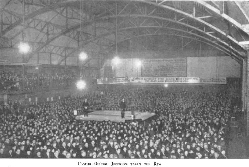 George Jeffreys Gospel Crusade at the Boxing Stadium, Liverpool 1926