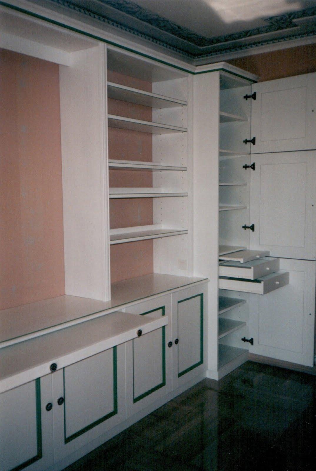 Menuiserie vanin biblioth que avec portes tag res tiroirs et tablettes r - Bibliotheque avec portes ...