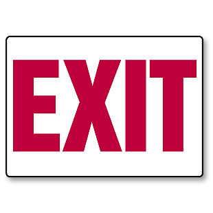 Where is the exit sign?
