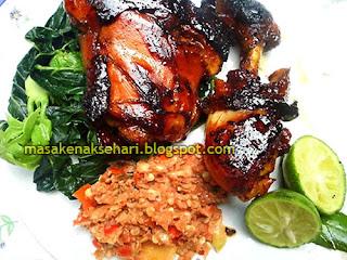 Resep cara Membuat Ayam Bakar Sambal Pedas Kecap Enak