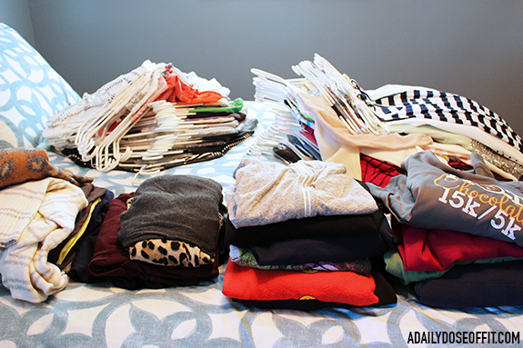 Use the KonMari Method to organize and tidy your clothing by category.