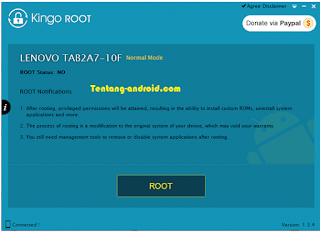 KingORoot ROOT Button-Rooting Lenovo A7-10 Tablet 2