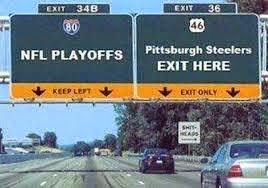 nfl playoffs. Pittsburg steelers exit here