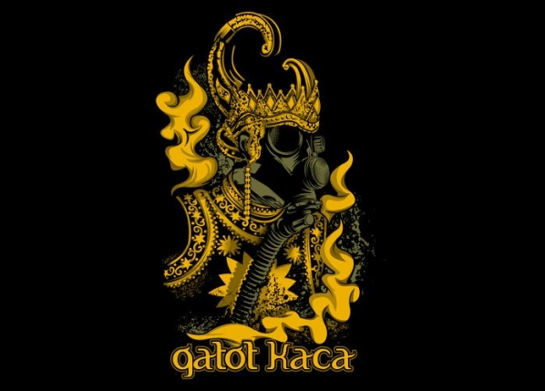 Foto Keren Lucunya Gatotkaca Super Hero Indonesia Grafis Kaos Animasi