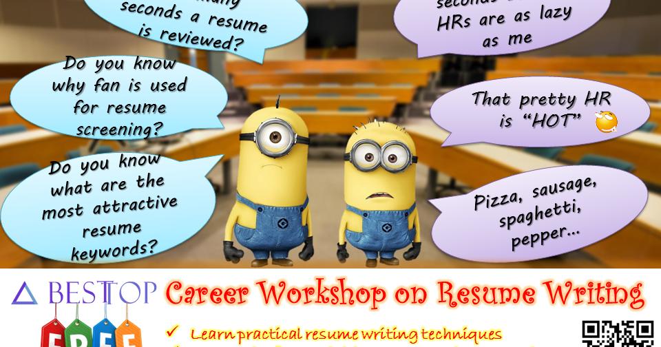free besttop career workshop on resume writing