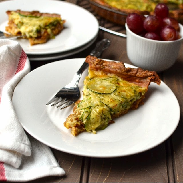 Caramelized Onion & Zucchini Quiche (with Spelt flour Crust)