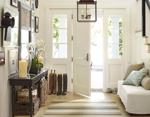 hallway by pottery barn