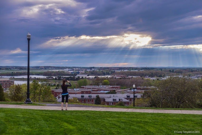 Portland, Maine Western Promenade cloud and sun sky May 12, 2015 photo by Corey Templeton.