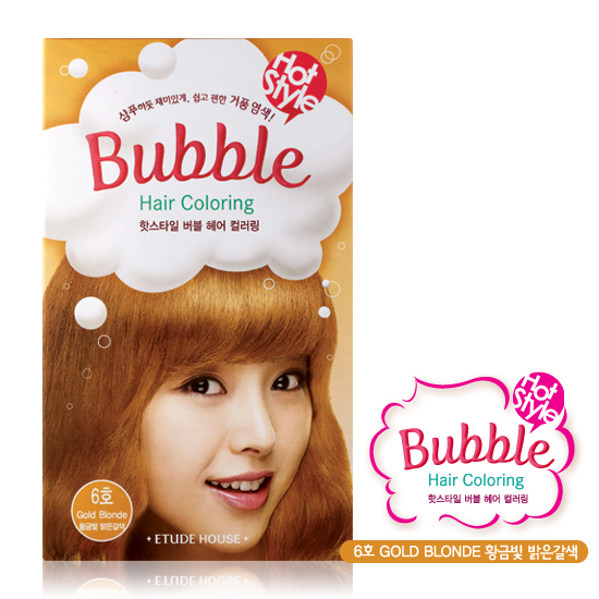 Review Etude House Hot Style Bubble Hair Coloring In 5