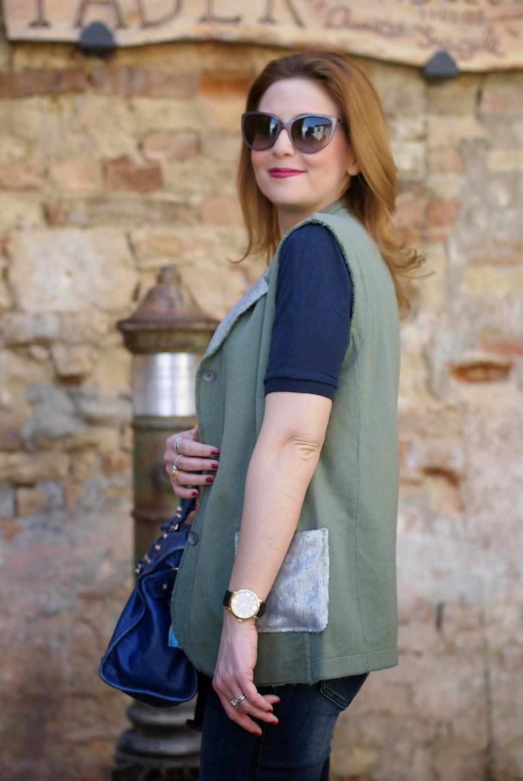 Praio Lucia jacket, Millelire orologio, Balenciaga City, Fashion and Cookies, fashion blogger
