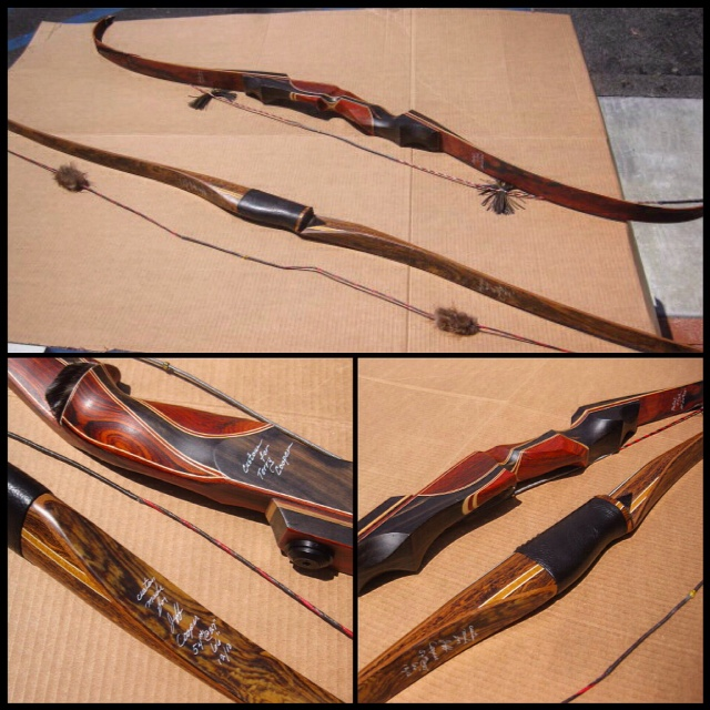Tropical Exotic Hardwoods Beautiful Set Of Archery Bows