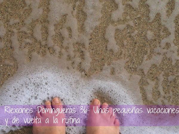 Reflexiones Domingueras 36: Unas pequeñas vacaciones y de vuelta a la rutina