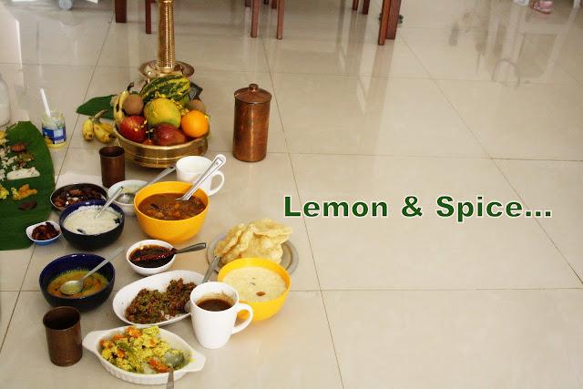 Vishu sadya recipes
