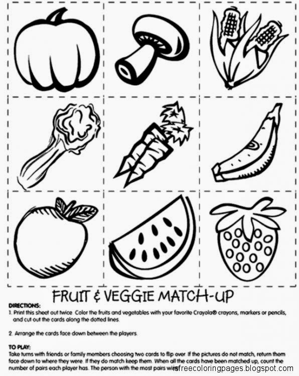 fruit and vegetable coloring pages Fruits And Vegetables Coloring Pages | Free Coloring Pages fruit and vegetable coloring pages