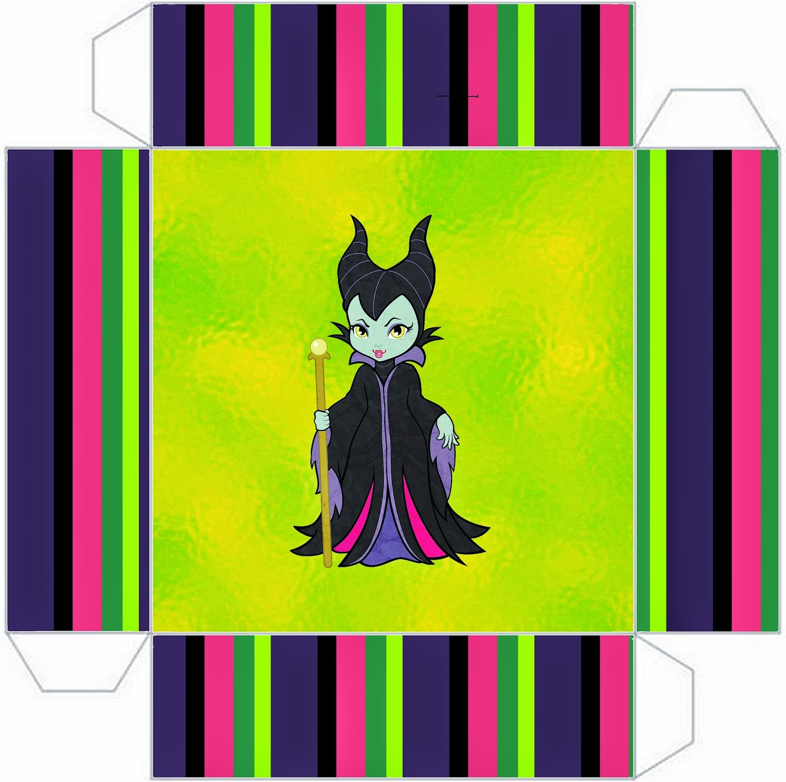 Maleficent Baby Free Printable Boxes