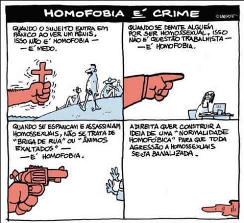 Homofobia é crime - Por Laerte