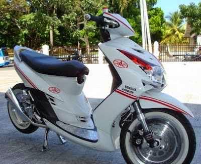 Modifikasi Yamaha Mio warna putih