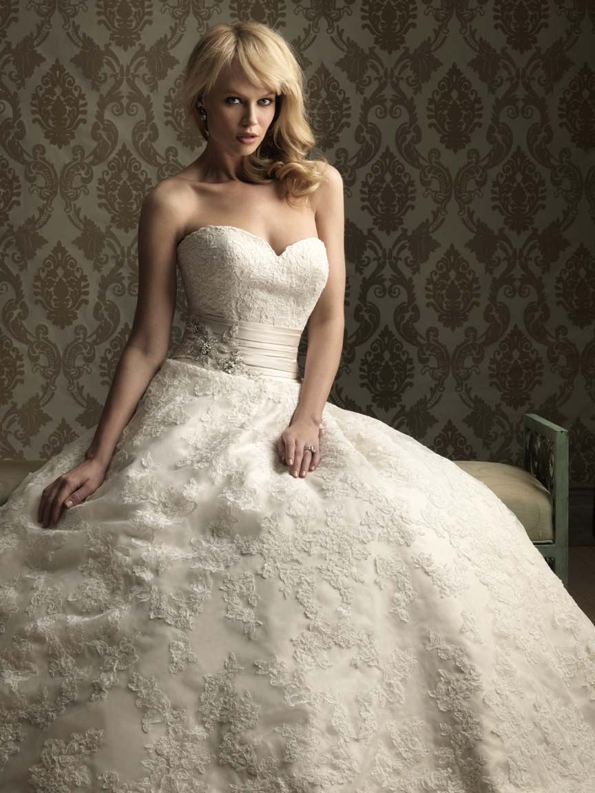 Wedding Dress Images Lace : Wedding lady allure bridal ballgown