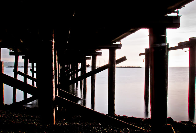 Ocean Pier and Angles - Landscape Photography Prints