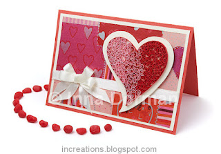 Quilled Valentine&#39;s Day card