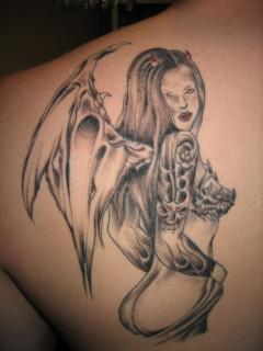 and Tattoos Design: The Difference Between The Angel And Devil Tattoos