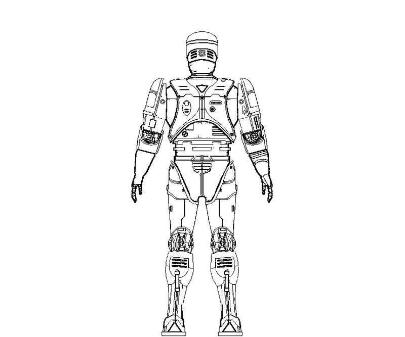 robocop coloring pages - photo#18