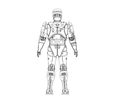 #9 Robocop Coloring Page