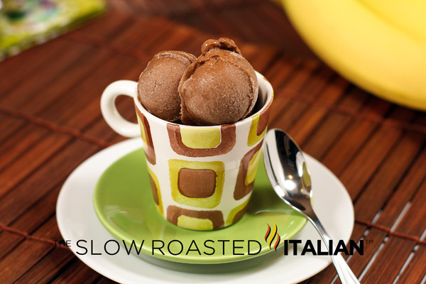 "... Italian - Printable Recipes: 2 Ingredient Chocolate Banana ""Ice Cream"