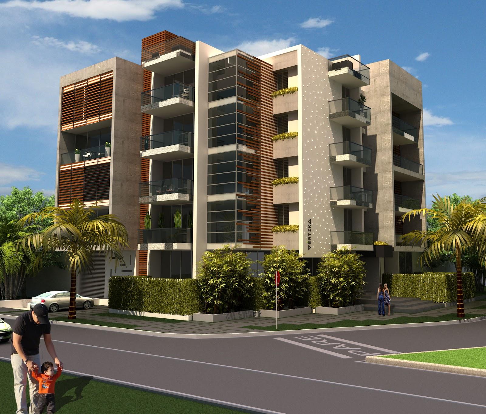 Diversificar s a constructora v rtika edificio boutique for Fachadas de apartamentos modernos