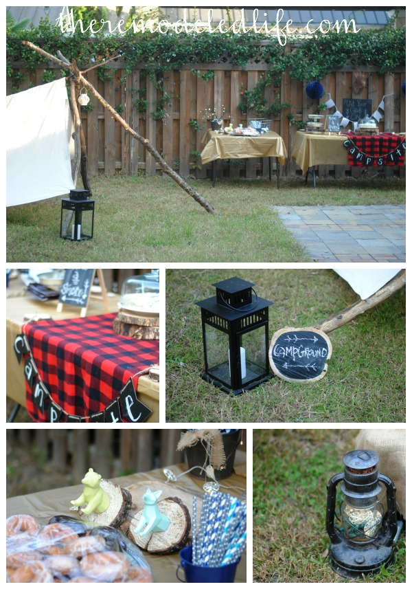 The Remodeled Life A Backyard Camp Birthday Party DIY Ideas - Backyard camping ideas