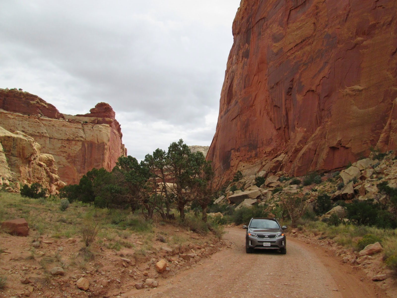 2015 Kia Sorento SXL at Capitol Reef National Park, Utah